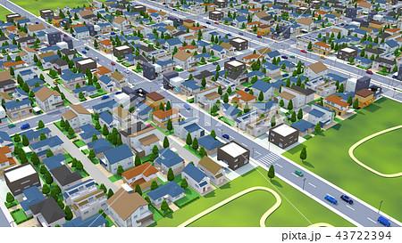 街 住宅 住宅街 空から01 43722394