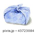 水彩で描いたお弁当包み 43723084