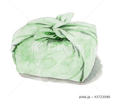 水彩で描いたお弁当包み 43723086