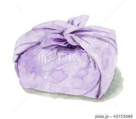 水彩で描いたお弁当包み 43723089