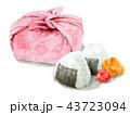 お弁当包み 弁当 昼食のイラスト 43723094