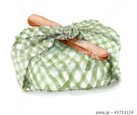 水彩で描いたお弁当包み 43723124