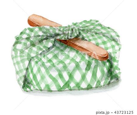 水彩で描いたお弁当包み 43723125