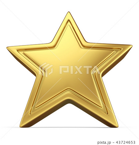 Five-point Star Isolated 43724653
