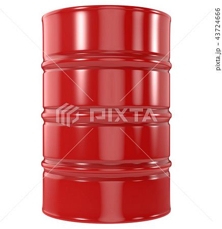 Standard Red Oil Barrel on White Background 43724666