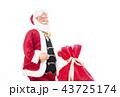 クリスマスプレゼントとサンタクロース クリスマスイメージ イメージ素材 43725174