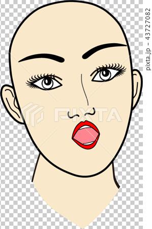 女性の顔:無題1 43727082