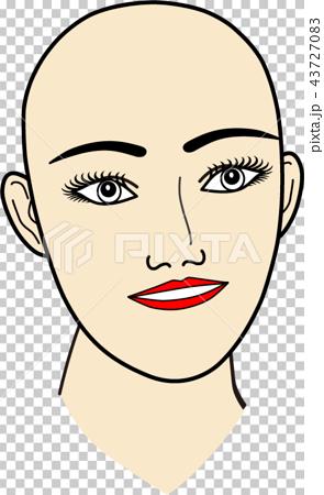 女性の顔:無題2 43727083