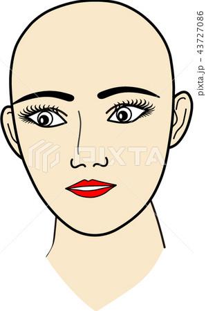 女性の顔:無題5 43727086