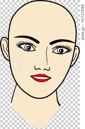 女性の顔:無題7 43727088