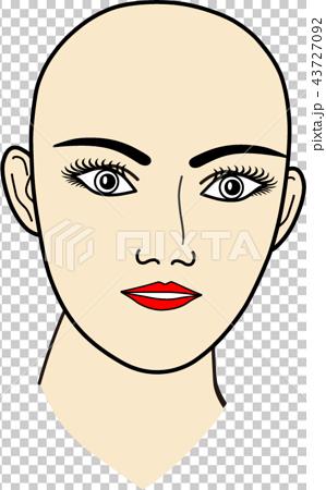 女性の顔:無題10 43727092