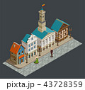 Medieval Architecture Isometric Composition  43728359