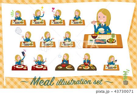 flat type school girl White_Meal 43730071