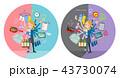 女の子 高校生 手伝いのイラスト 43730074