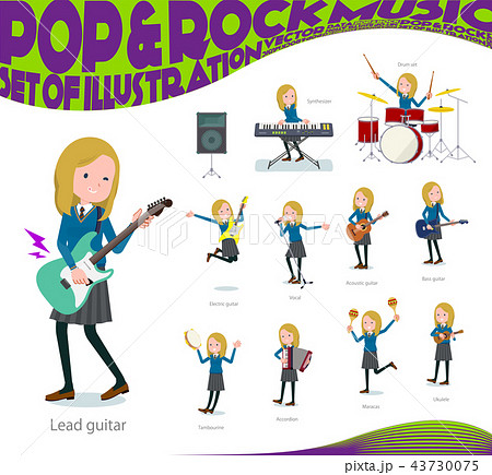 flat type school girl White_pop music 43730075