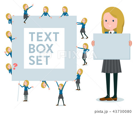flat type school girl White_text box 43730080