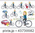 女の子 高校生 自転車のイラスト 43730082