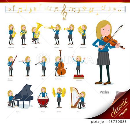 flat type school girl White_classic music 43730083
