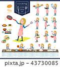 女の子 高校生 料理のイラスト 43730085