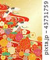 鶴 和紙 流水のイラスト 43731759