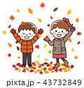 秋 紅葉 子供のイラスト 43732849