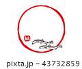 筆文字 魚 鰌のイラスト 43732859