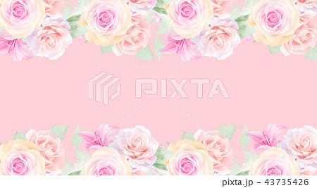 透明水彩 水彩画 薔薇 43735426