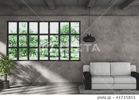 3D rendering of interior modern living room  43735853