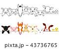 かわいい動物の子供たちのボーダーセット 43736765