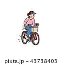笑顔 自転車 サイクリングのイラスト 43738403