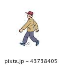 ウオーキングをするおじいちゃん 43738405