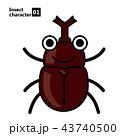 擬人化した昆虫のイラスト|カブトムシ|Insect character Beetle 43740500