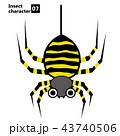 擬人化した昆虫のイラスト|クモ・女郎蜘蛛|Insect character Spider 43740506