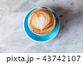 コーヒー カフェ・ラッテ アートの写真 43742107