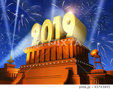 New Year 2019 holiday celebration concept 43743845