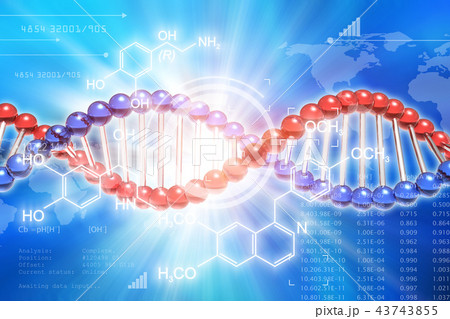 DNA genetic research science concept 43743855
