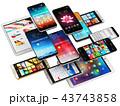 スマートフォン モバイル フォンのイラスト 43743858