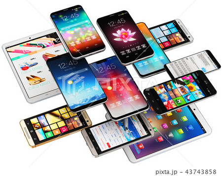 Smartphones, mobile phones and tablet computers 43743858
