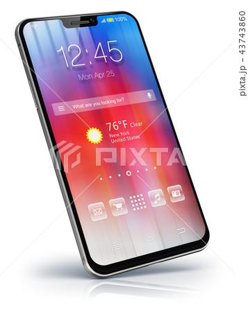 Modern touchscreen smartphone 43743860