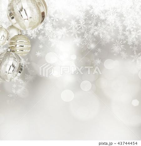 背景-雪-クリスマス-シルバー-キラキラ 43744454