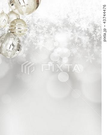 背景-雪-クリスマス-シルバー-キラキラ 43744476