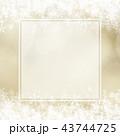背景-雪-クリスマス-ゴールド-キラキラ-フレーム 43744725