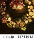 背景-クリスマス-リース-ベル 43744948