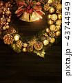 背景-クリスマス-リース-ベル 43744949