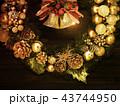 背景-クリスマス-リース-ベル 43744950