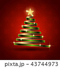 クリスマス クリスマスツリー ツリーのイラスト 43744973