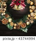 背景-クリスマス-リース-ベル 43744994