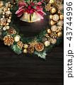 背景-クリスマス-リース-ベル 43744996