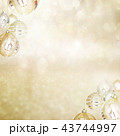背景-雪-クリスマス-ゴールド-キラキラ 43744997