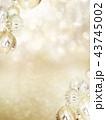 背景-雪-クリスマス-ゴールド-キラキラ 43745002